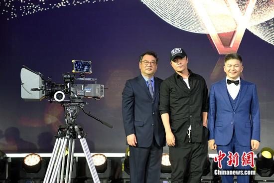曾茂军、陈建德与陈思诚导演共同揭幕世界最昂贵的IMAX摄影机