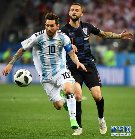 (世界杯)(39)足球――D组:克罗地亚队击败阿根廷队