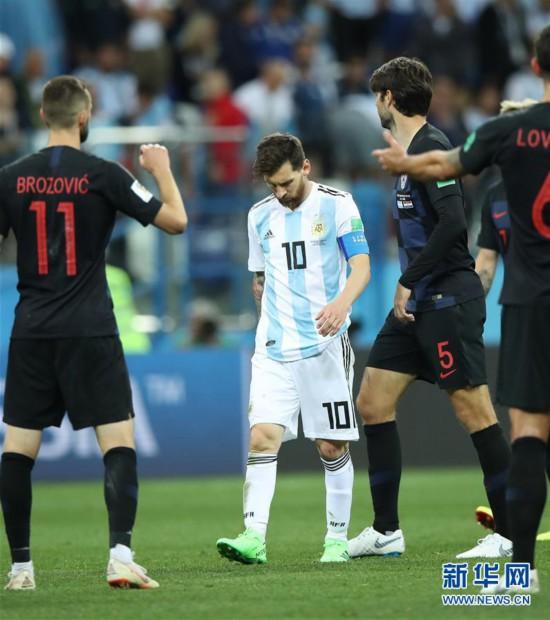 (世界杯)(28)足球――D组:克罗地亚队击败阿根廷队