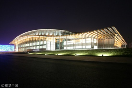 A night view, photographed at the National Indoor Stadium [File Photo: VCG]