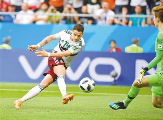 世界杯F组次轮 韩国1∶2不敌墨西哥