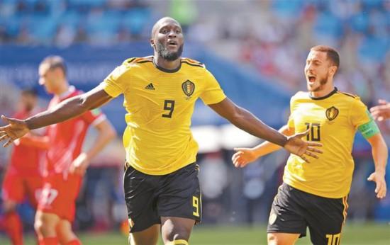 比利时大胜突尼斯出线在望