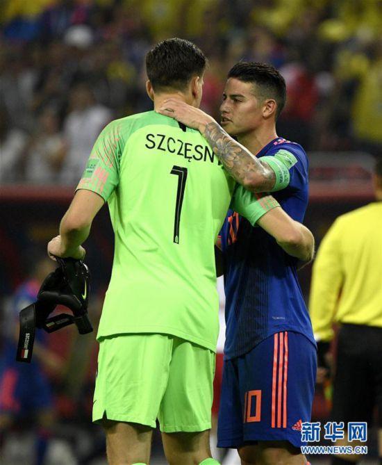 (世界杯)(17)足球――H组:哥伦比亚队胜波兰队