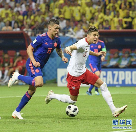 (世界杯)(13)足球――H组:哥伦比亚队胜波兰队