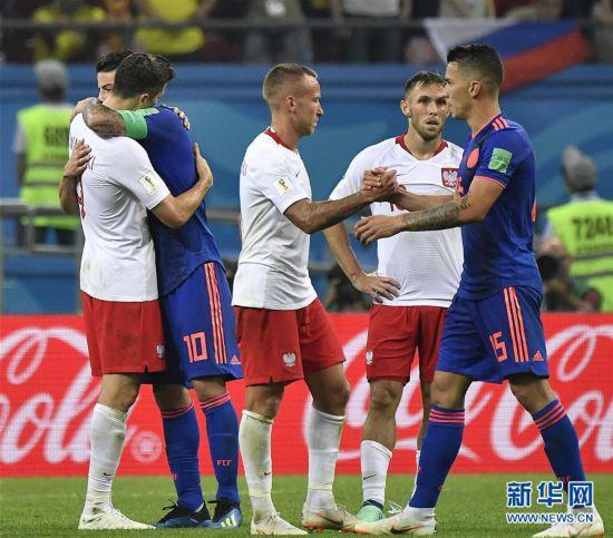 (世界杯)(16)足球――H组:哥伦比亚队胜波兰队