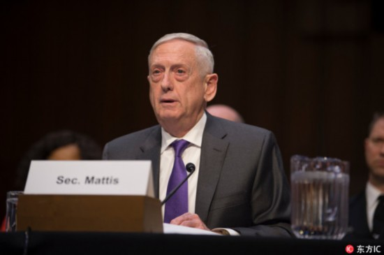 US Secretary of Defense James Mattis. [File Photo: IC]