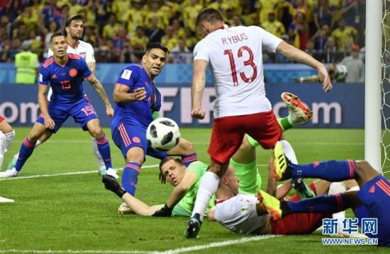(世界杯)(27)足球――H组:哥伦比亚队胜波兰队