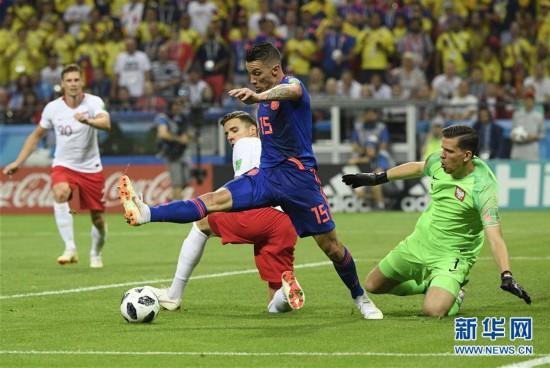 (世界杯)(9)足球――H组:哥伦比亚队胜波兰队