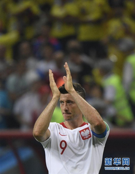 (世界杯)(6)足球――H组:哥伦比亚队胜波兰队
