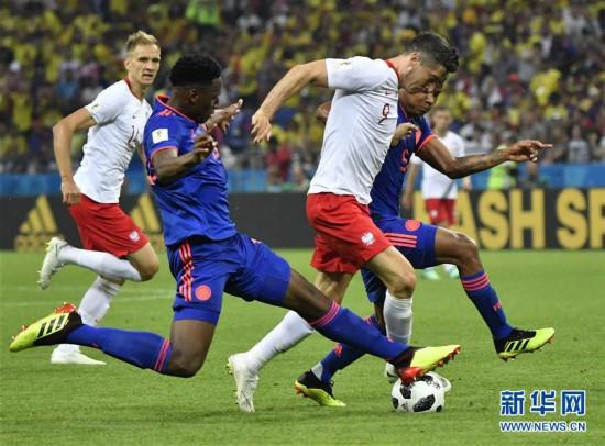 (世界杯)(5)足球――H组:哥伦比亚队胜波兰队