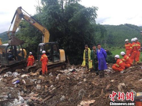 廣西凌云山體滑坡6人遇難 失蹤人員遺體全部找到