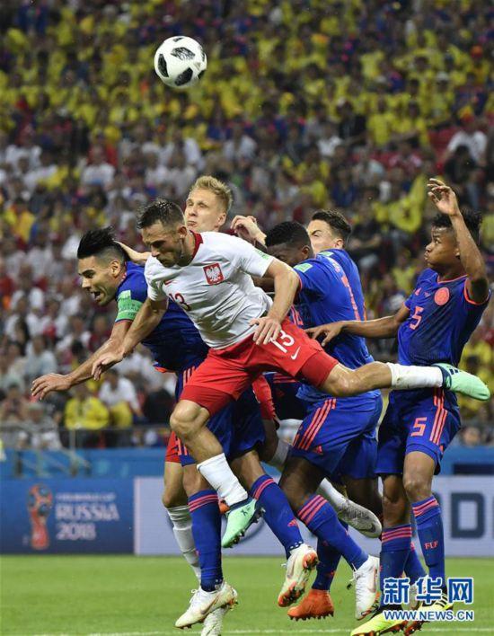 (世界杯)(23)足球――H组:哥伦比亚队胜波兰队