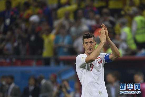 (世界杯)(3)足球――H组:哥伦比亚队胜波兰队