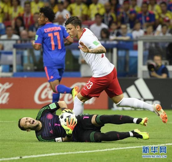 (世界杯)(29)足球――H组:哥伦比亚队胜波兰队