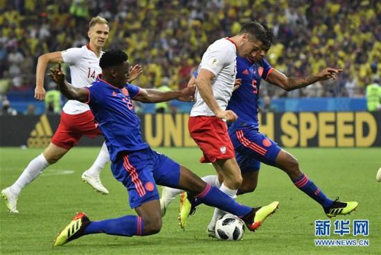 (世界杯)(4)足球――H组:哥伦比亚队胜波兰队