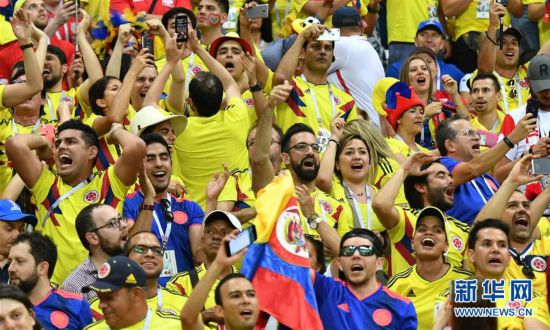 (世界杯)(1)足球――H组:哥伦比亚队胜波兰队