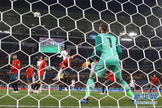(世界杯)(18)足球――B组:西班牙队战平摩洛哥队