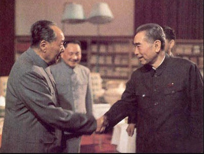 毛泽东与周恩来(资料图)
