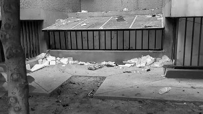 投诉:楼前垃圾未清 楼道堆满杂物