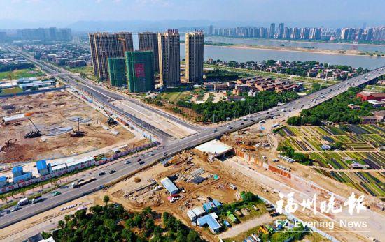福州高新大道下穿浦上大桥通道贯通 西桥头围挡下月拆除