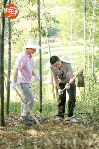 节目海报:嘉宾在挖笋