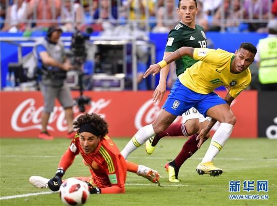 """(世界杯)(3)足球――""""桑巴军团""""挺进八强"""