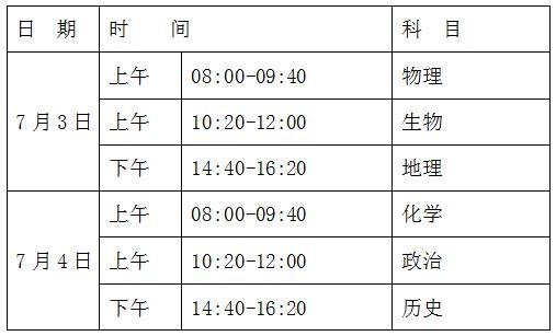 宁夏2018年普通高中学业水平考试明日开考