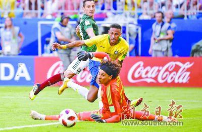 巴西击败墨西哥 五星王者拒绝冷门