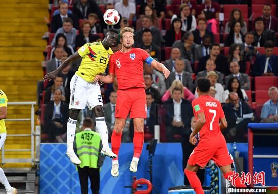 英格兰点球大战总比分5:4胜哥伦比亚 搭上八强