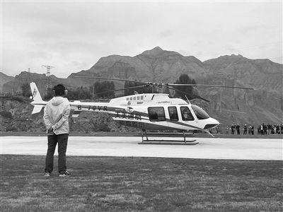 坎布拉景区直升机 低空游览成功试飞