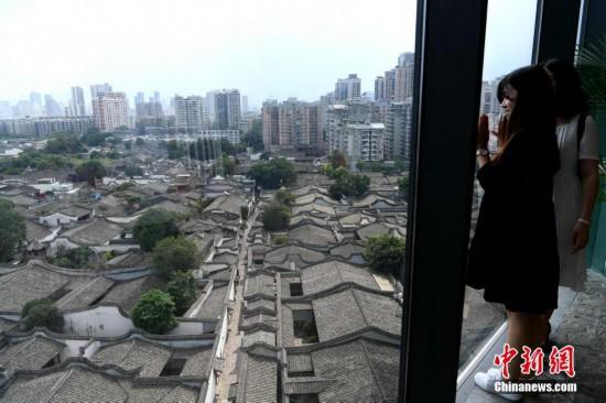 鸟瞰福州三坊七巷