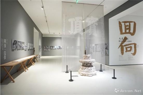 """展览第二单元""""图像/造像:未曾见过的大足石刻"""""""
