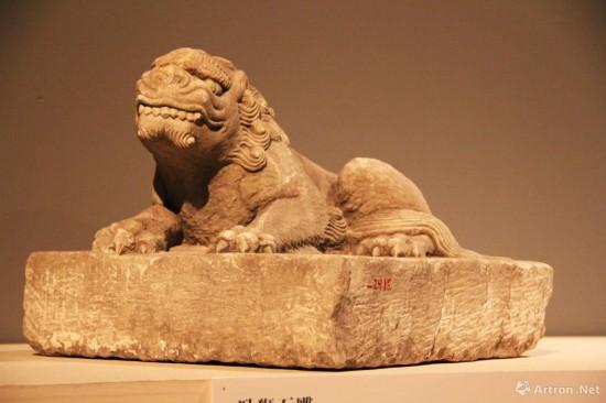 卧狮石雕    北京海淀区新街口元代大都遗址出土  首都博物馆藏