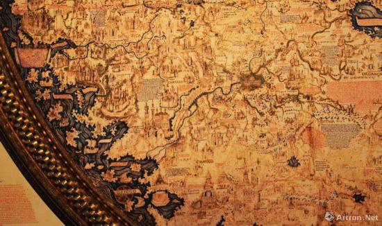 弗拉・毛罗世界地图细节 图片中心即是卢沟桥