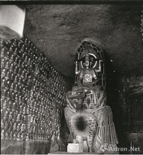 北山佛湾第155号《孔雀明王窟》中国营造学社拍摄 1940年