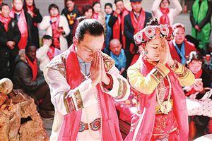云南丽江婚礼上刮起最炫民族风