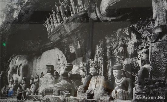 宝顶山大佛湾第11号释迦涅��圣迹图中国营造学社1940年