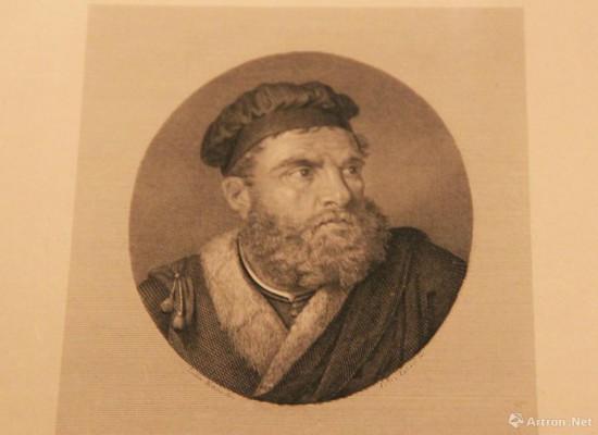 马可・波罗肖像  公元19世纪 达拉・吉塞佩绘制  铜版画   意大利威尼斯科雷尔博物馆藏