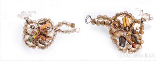 双凤及鸳鸯组合饰件-双凤组合饰件 长11厘米、宽8厘米 辽