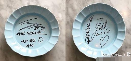 某餐饮店透露秋瓷炫于晓光曾光临并公开了这对夫妇的亲笔签名
