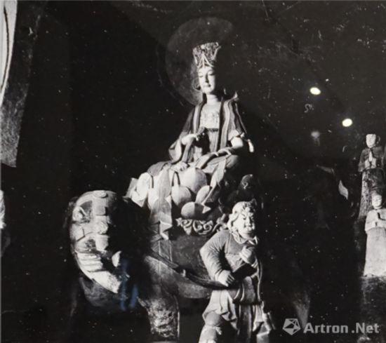 北山转轮经藏窟之普贤菩萨 中国营造学社 1940年