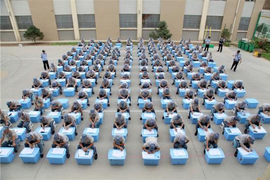 宁夏监狱组织服刑人员进行宪法知识考试