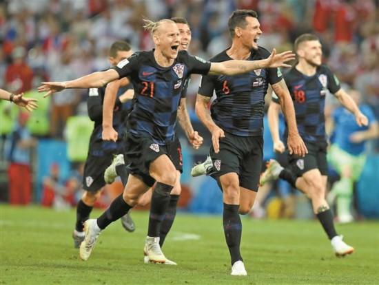 世界杯四强赛预测:英格兰不止鸿运当头 克罗地亚似强弩之末