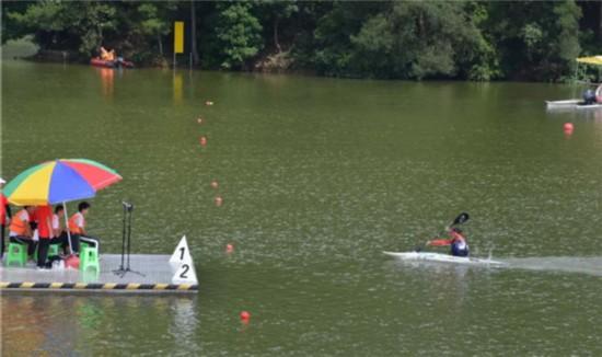 贵州省十运竞技体育组第一个项目皮划艇田径在遵义绥阳开赛动作摆臂项目图片