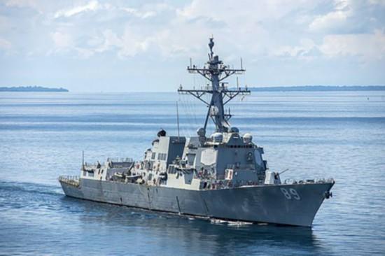 """美军驱逐舰""""绕台朱洁静整容前后湾岛""""了吗?专家:或是躲台风"""
