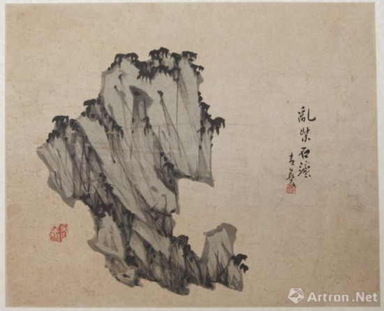 清·李斗山 画石册