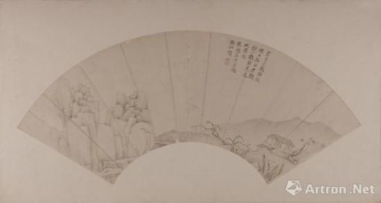 清弘仁山水扇册
