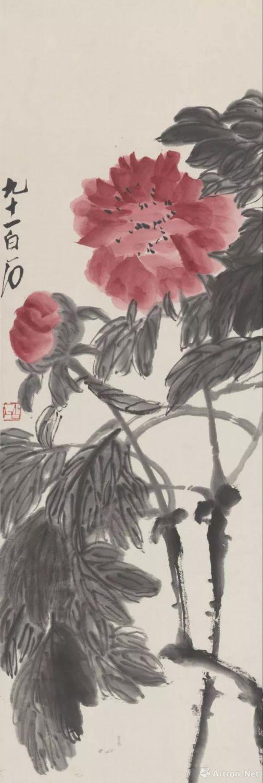 齐白石  牡丹  北京画院藏