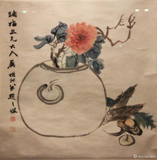 赵之谦 《一团富贵图》 纸本设色 故宫博物院藏