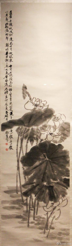 吴昌硕 《荷花轴》 纸本墨笔 故宫博物院藏